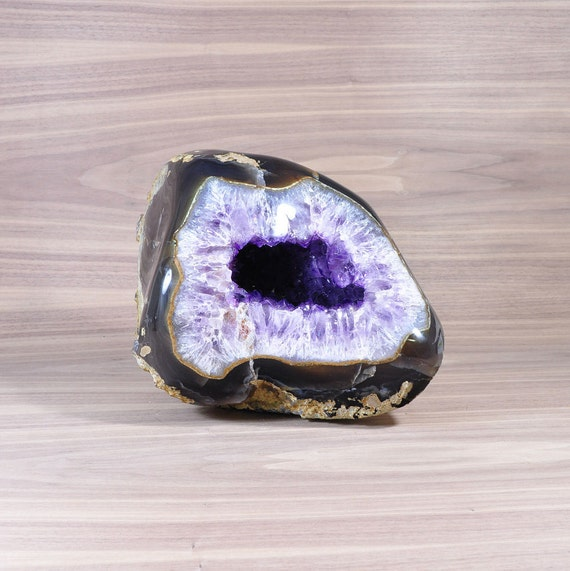 Polished Uruguayan Amethyst Geode with Agate GS3P-011