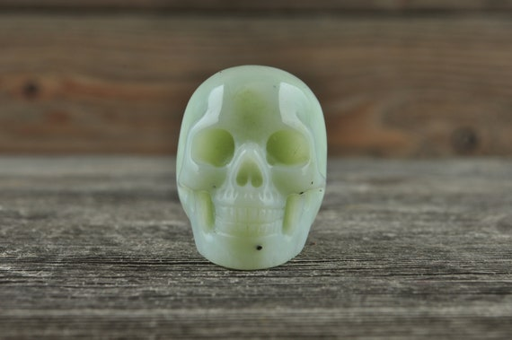 Natural Amazonite Crystal Skull, Mini