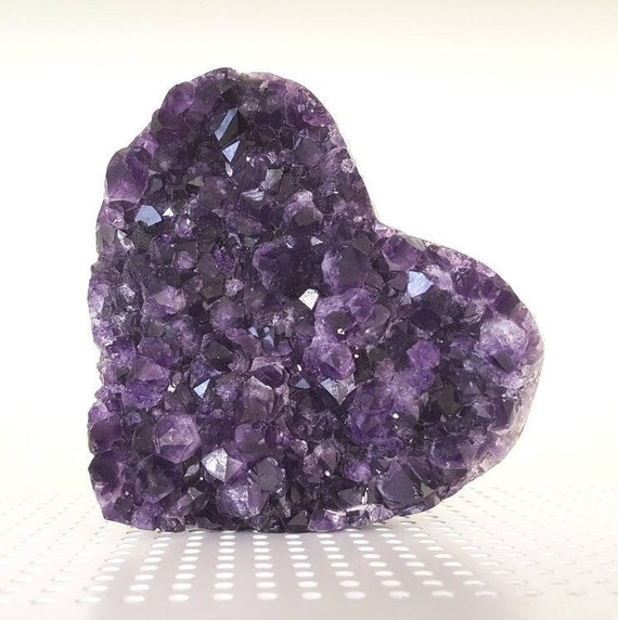 Beautiful AA Quality Semi-Polished Uruguayan Amethyst Heart HRT1-007