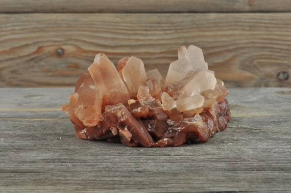 Natural Hematoid Quartz Crystal Cluster