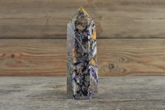 Opaque Purple Fluorite Obelisk Tower!