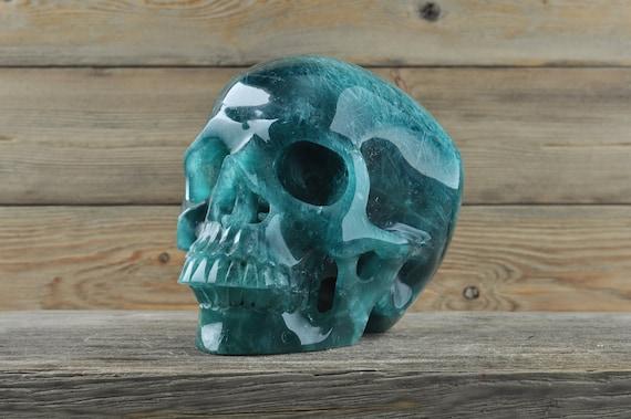 Beautiful Ice Blue Obsidian Crystal Skull! XL