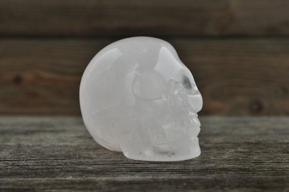 Natural Rose Quartz Crystal Skull, 2 inch!