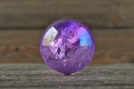 Tanzine Aura Quartz Sphere, 1.25 inches!