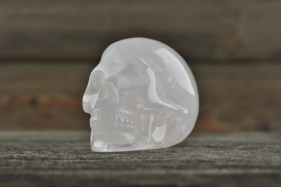 Natural Rose Quartz Crystal Skull, 2 inch!