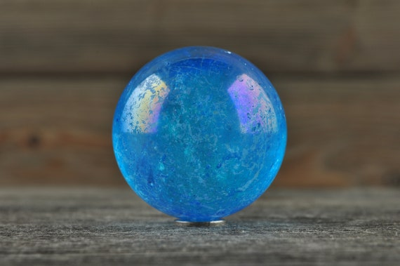 Rainbow Aura Sphere! 1.25 inches!