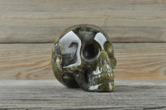 Beautiful Labradorite Crystal Skull! Medium