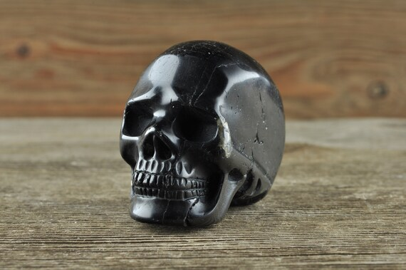 Black Tourmaline Crystal Skull, Halloween Decor, Skull Decor, Gothic Home Decor, Memento Mori, Goth Decor, Crystal Decor