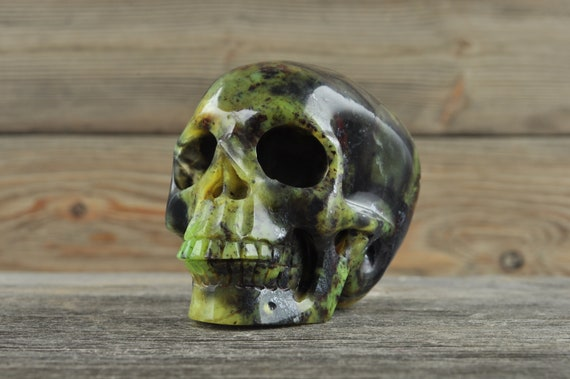 Natural Jade Crystal Skull