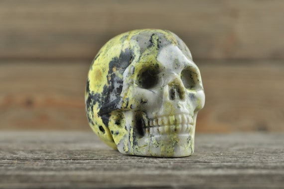 Yellow Turquoise Crystal Skull, 2 inches!