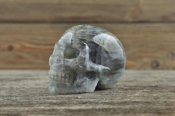 Labradorite Crystal Skull, 2 inches!