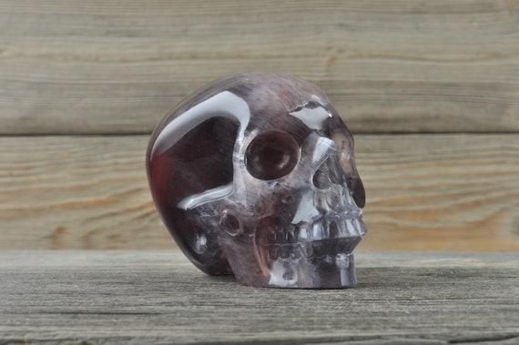 Beautiful High Quality Purple Fluorite Crystal Skull! Medium