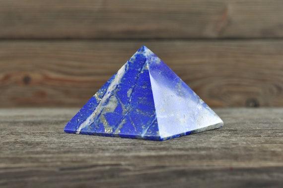 Beautiful Afganistan Lapis Lazuli Pyramid, 2.25 inches!