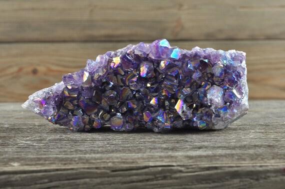 Gorgeous Amethyst Aura Quartz Cluster!