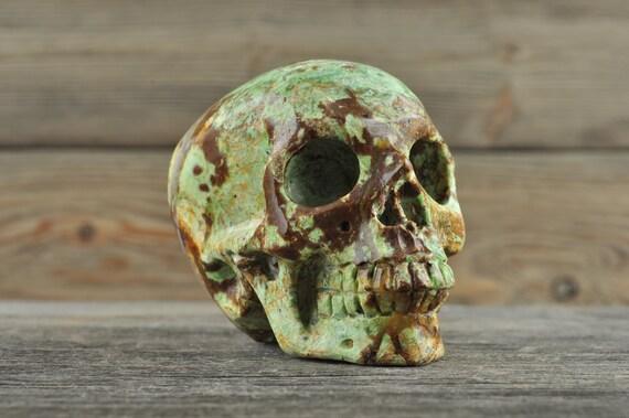 Natural Realistic Ocean Jasper Crystal Skull, Medium!