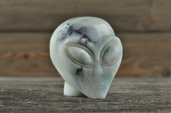 Natural Realistic Amazonite Alien Starbeing Crystal Skull, Mini!