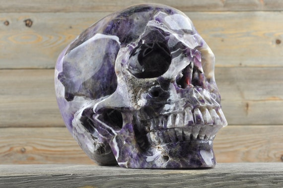 TITAN, Chevron Amethyst Crystal Skull, One-of-a-kind!!!