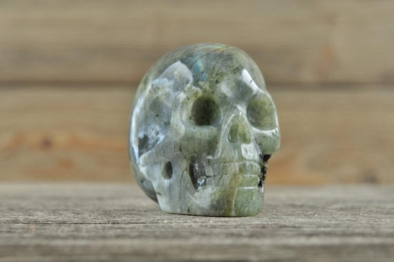 Labradorite Crystal Skull, 2 inches!