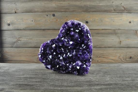 Beautiful AA Quality Semi-Polished Uruguayan Amethyst Heart HRT1-007