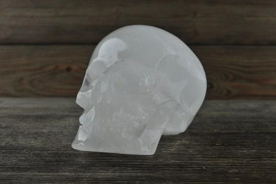 Natural Clear Quartz Crystal Skull, Medium