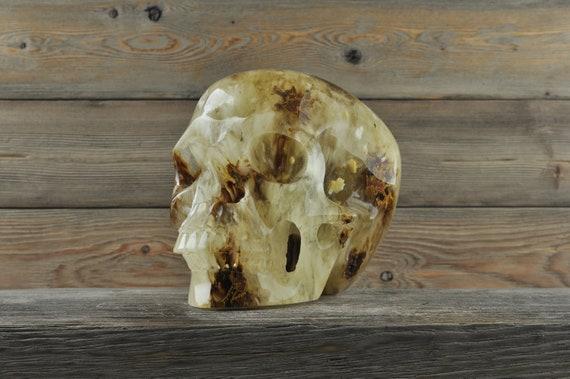 Beautiful and Unique Smelt 'Quartz' Skull, XL