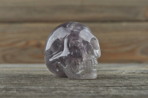 Purple Fluorite Crystal Skull!
