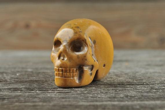 Natural Realistic Mookaite Crystal Skull, Mini!
