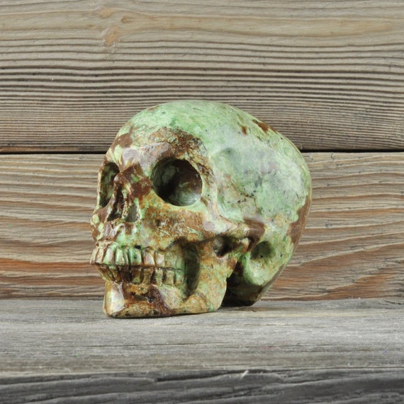 Natural Realistic Ocean Jasper Crystal Skull, Medium!