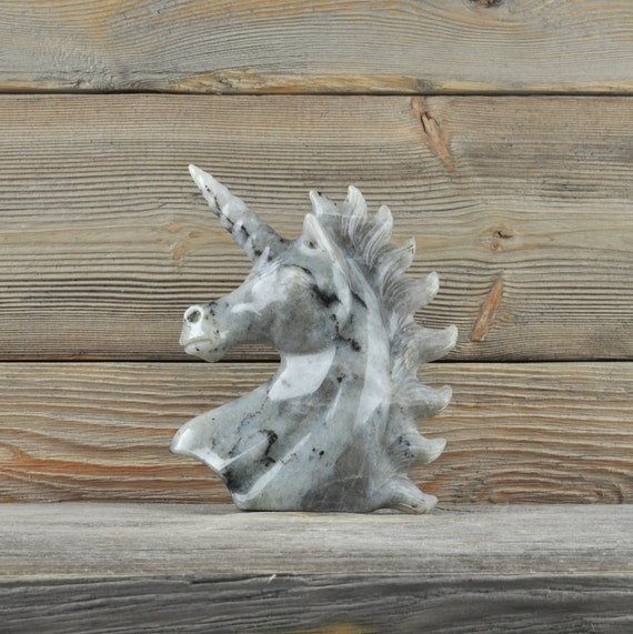 Beautiful Hand Carved Labradorite Unicorn!!