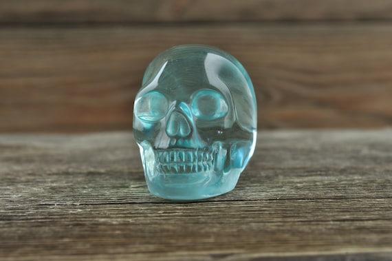 Beautiful Blue Obsidian Skull, Mini