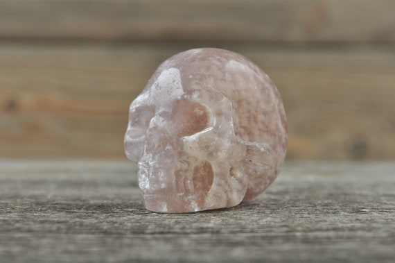Purple Fluorite Crystal Skull! WOUNDED WARRIOR