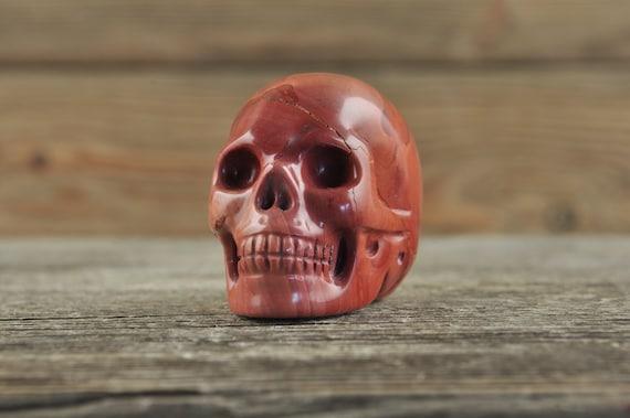 Red Jasper Crystal Skull, Mini! Halloween Decor, Skull Decor, Gothic Home Decor, Memento Mori, Goth Decor, Crystal Decor