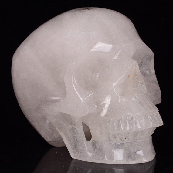 TITAN, Milky Quartz Crystal Skull, One-of-a-kind!!!