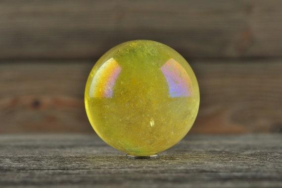 Sunshine Aura Quartz Sphere, 1.25 inches!
