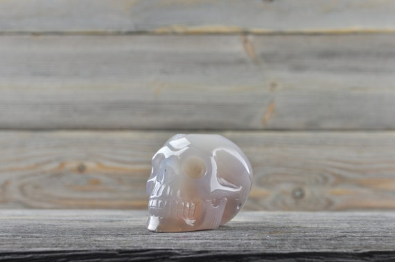 Beautiful Natural Quartz and Agate Geode Crystal Skull!