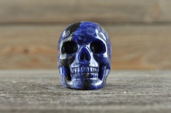 Natural Sodalite Crystal Skull, Mini
