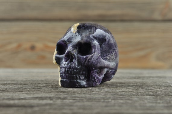Purple Fluorite Crystal Skull!