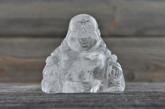 Beautiful Clear Quartz Buddha Carving