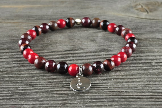 Root Chakra, Gemstone Bracelet