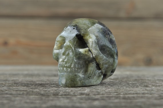 Labradorite Crystal Skull! WOUNDED WARRIOR