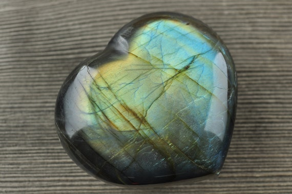 AAA Quality Labradorite Hearts, 2 inches!