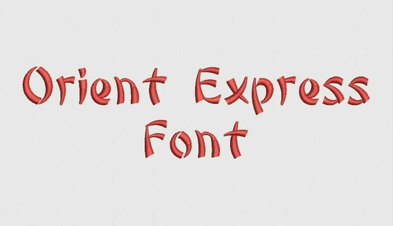 Oriental Express Font 14 Sizes Embroidery Design Etsy