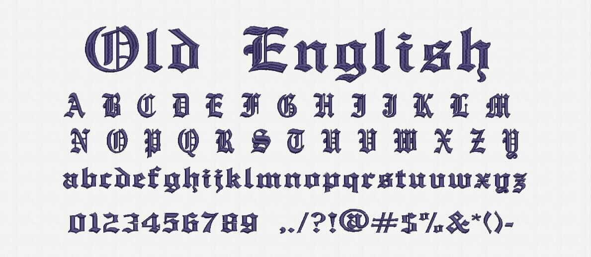 Alte englische Schriftart Stickerei Design kommen Sie | Etsy