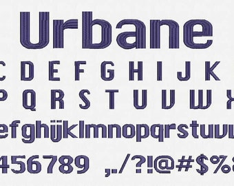 Urbane Font Embroidery Design Now Come with .BX Ready Font!