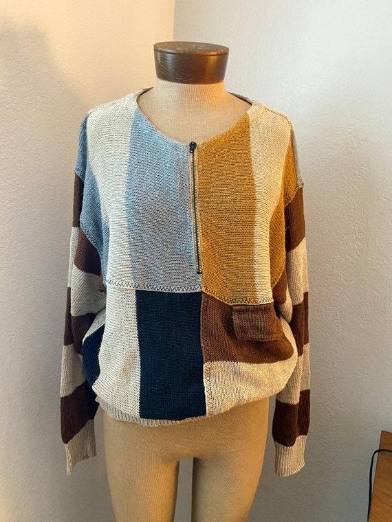 J.C De Castelbajac ICEBERG linen sweater - PATCHWO
