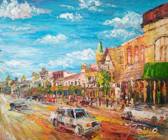 NY-Pen King- A275-Home Decor Holiday Artwork Texture Painting Dining Wall Art E MAIN STREET Cuba