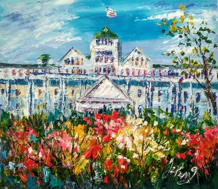 Canada-Pen King-A2819-Home Decor Holiday Artwork Texture Painting Dining Wall Art Main Street Ontario Newmarket