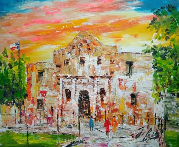 fall of the alamo painting