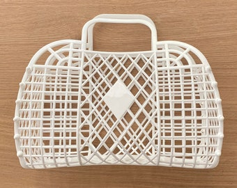 Retro Jelly Bag  |  Party Basket  |  Bridesmaid Bag  |  Bridesmaid Gifts  |  Birthday Gift Bag  |  Favor Bags