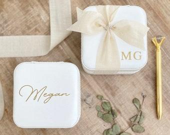 Travel Jewelry Box ~ Jewelry Box ~ Bridesmaid Jewelry Box ~ Custom Jewelry Box ~ Bridesmaid Gift ~ Personalized Jewelry Box